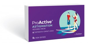 Proactive contact lenses packaging using ultra violet