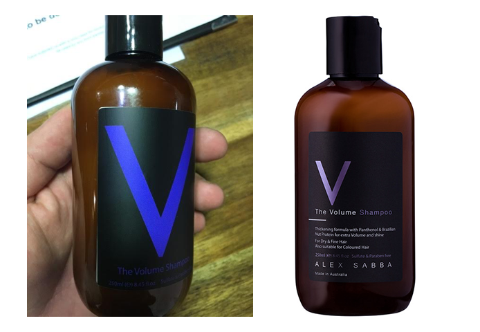 Before and after product labels