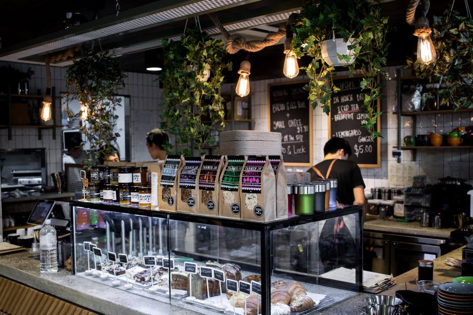 Luminar stickers inside Leaf Cafe & Co