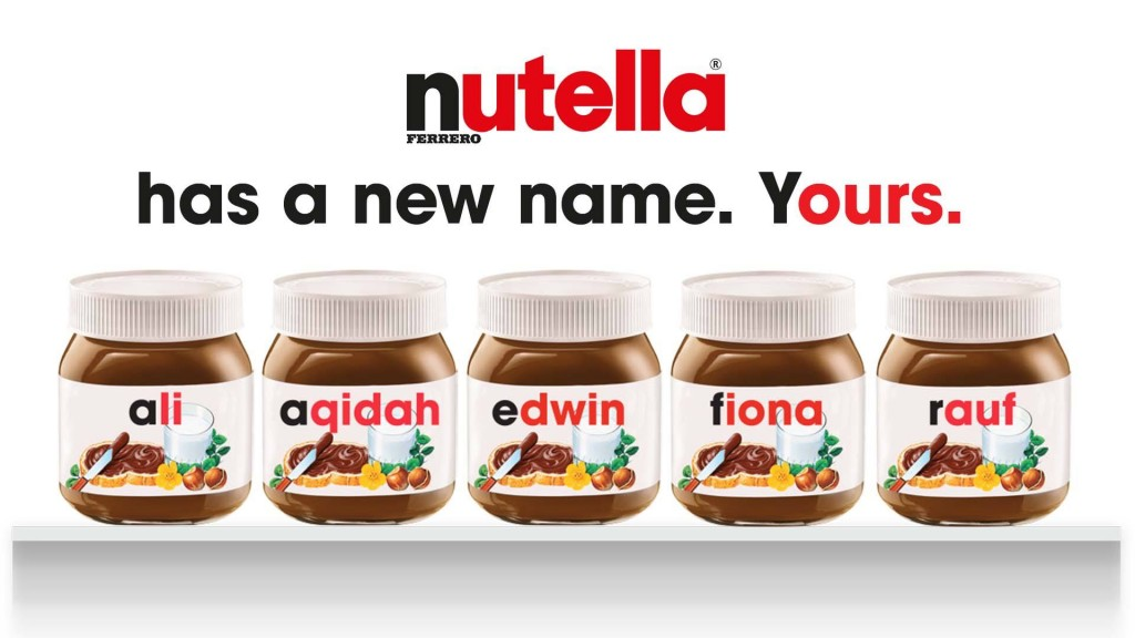 Who doesn't love Nutella, especially when it's customised with your name.