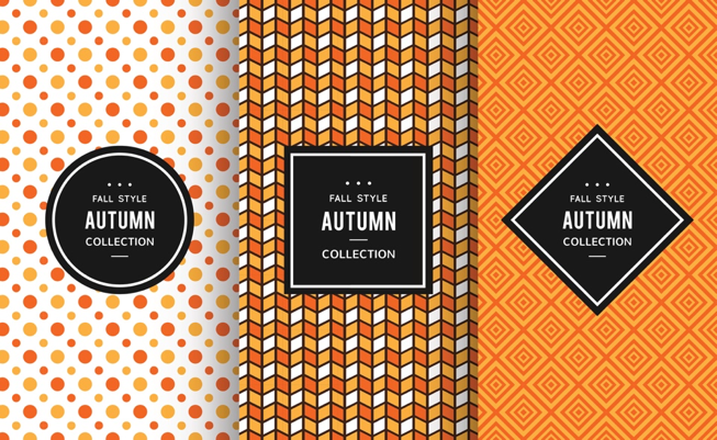 Contemporary packaging in autumnal colours image