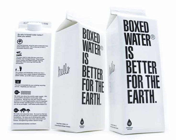 boxed water carton packaging