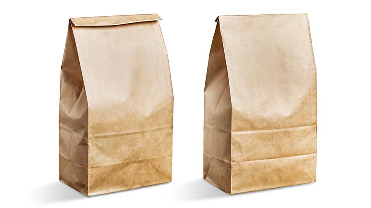 Brown paper bag packaging image