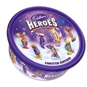 Cadbury Christmas chocolate tub image