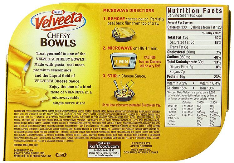 Cheesy bowls instructograhic label image