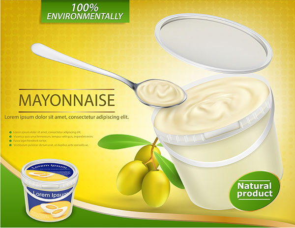 Green food packaging label image