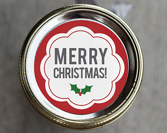 Christmas packaging stickers