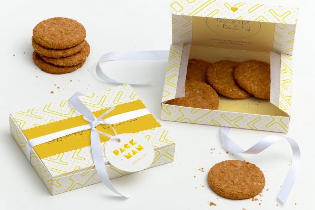 Yellow food packaging box image